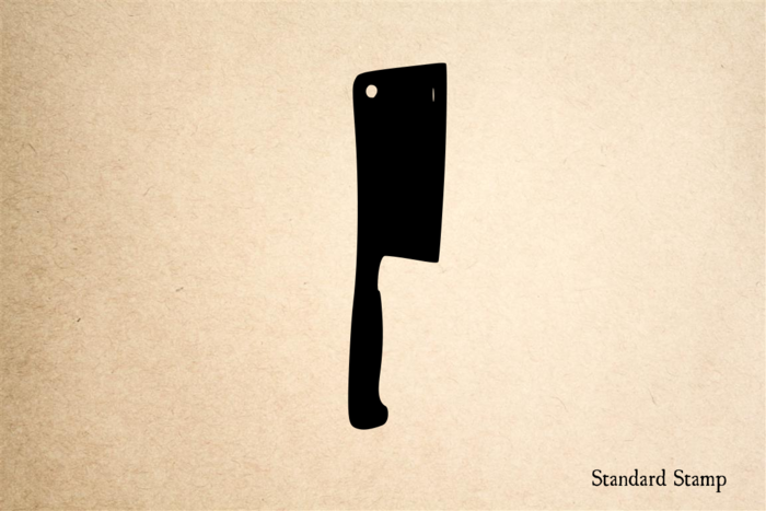Small Cleaver Rubber Stamp
