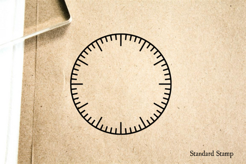 Clock Face Blank Rubber Stamp