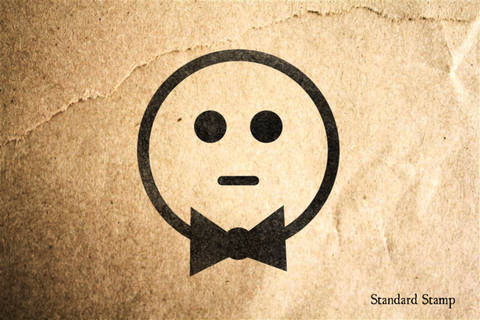 Clueless Face Rubber Stamp