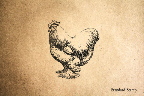 Cochin Rooster Rubber Stamp