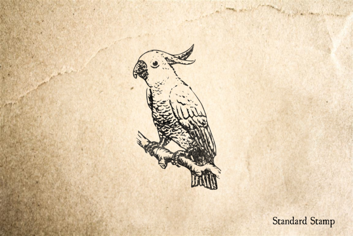 Cockatoo on Branch Rubber Stamp