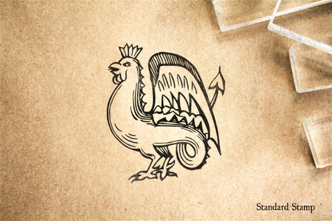 Cockatrice Rubber Stamp