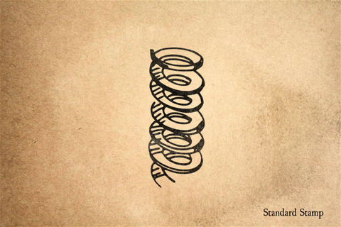 Coiled Spring Rubber Stamp
