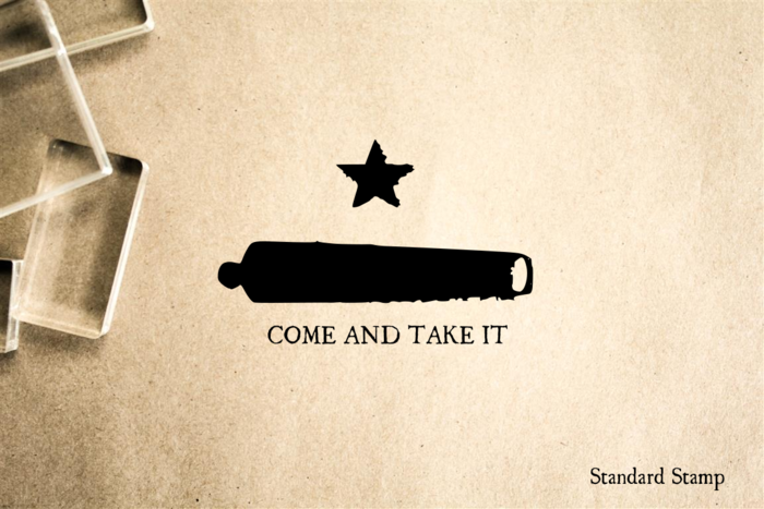 Come and Take It Cannon Rubber Stamp
