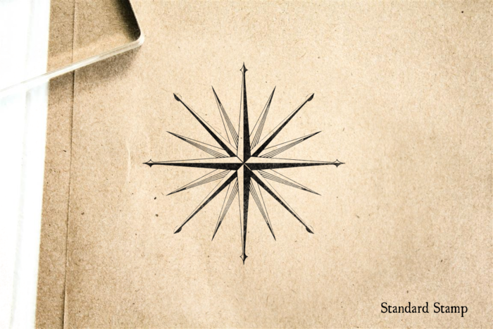 Compass Rose Rubber Stamp