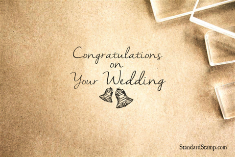 Congratulations on your Wedding Rubber Stamp