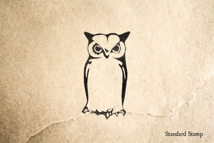Cool Owl Rubber Stamp
