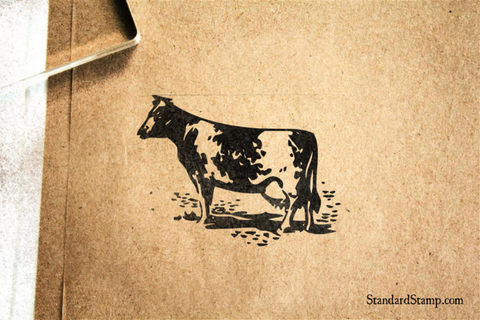 Cow Rubber Stamp