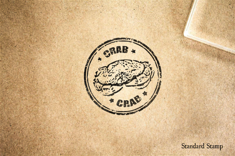 Crab Seal Rubber Stamp