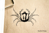 Spiny Crab Rubber Stamp