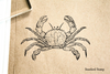 Vintage Crab Rubber Stamp