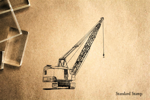 Crane Rubber Stamp