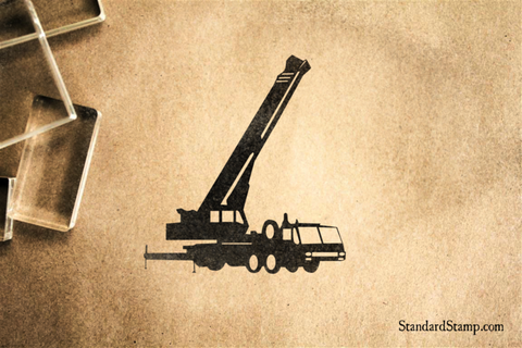 Crane Flatbed Rubber Stamp