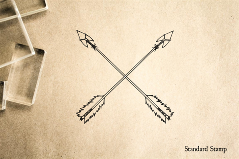 Crossed Indian Arrows Rubber Stamp