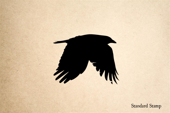 Flying Crow Rubber Stamp