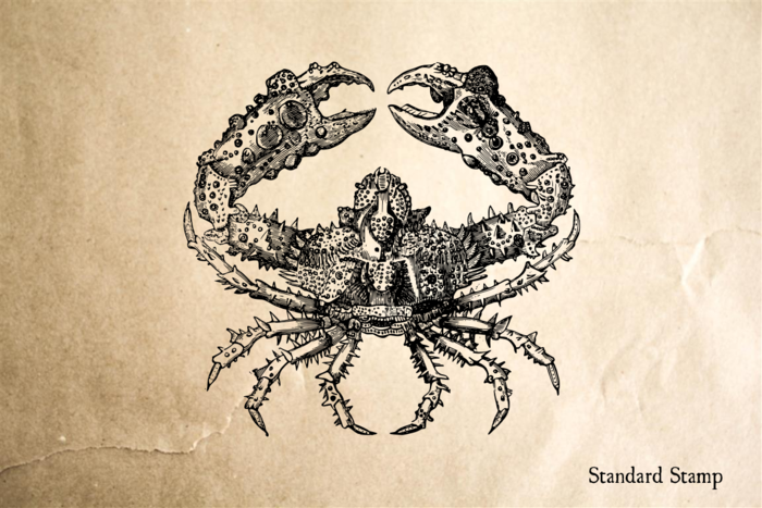Crusty Crab Rubber Stamp