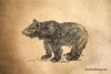 Bear Cub Rubber Stamp