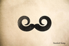 Curly Mustache Rubber Stamp