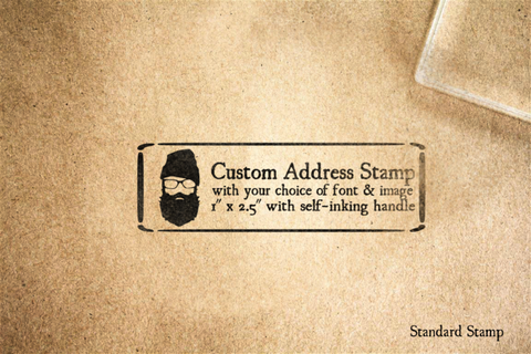 Custom Address Self-Inking Handle Master Rubber Stamp