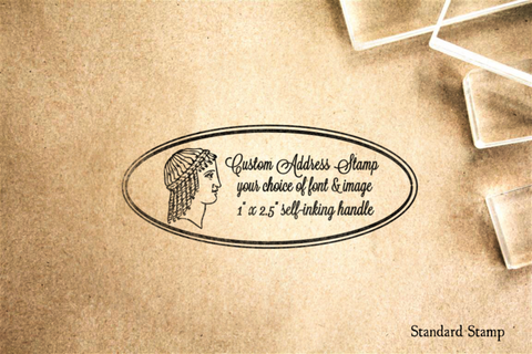 Custom Address Self-Inking Master Rubber Stamp