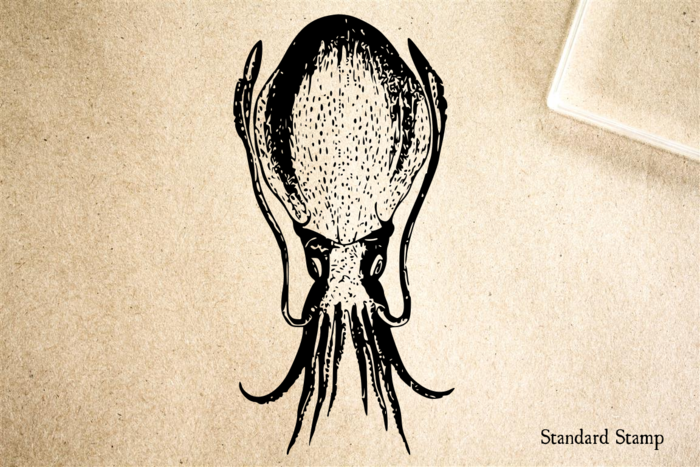 Cuttlefish Rubber Stamp