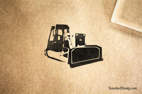 D6 Bulldozer Rubber Stamp