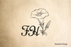 Daffodil Monogram Rubber Stamp
