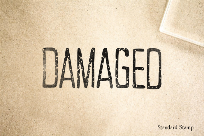 Damaged Rubber Stamp