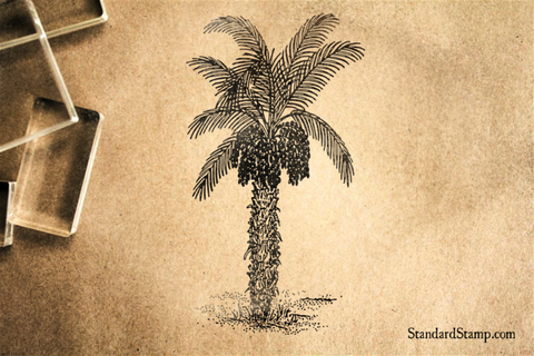 Date Palm Rubber Stamp