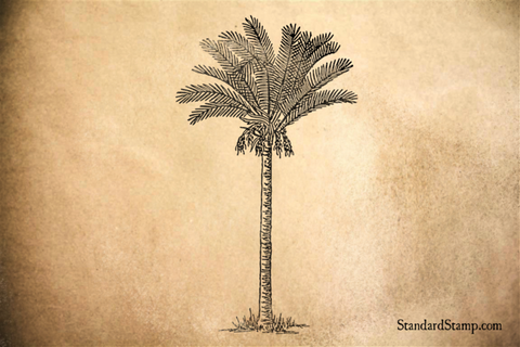 Date Palm Tall Rubber Stamp