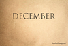 December Rubber Stamp