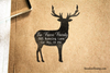 Deer Return Address Rubber Stamp