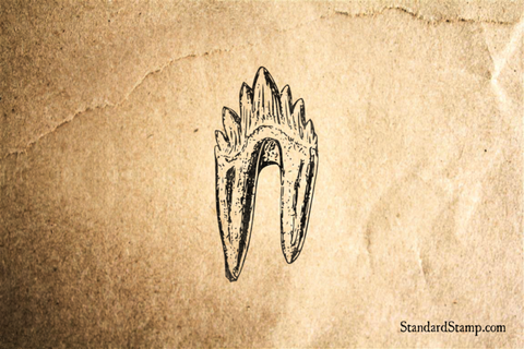 Dinosaur Tooth Rubber Stamp