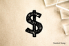 Dollar Sign Rubber Stamp