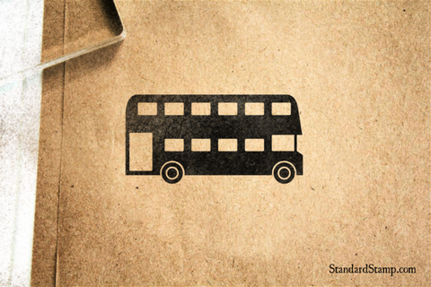 Double Decker Bus Rubber Stamp