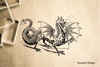 Dragon Rubber Stamp