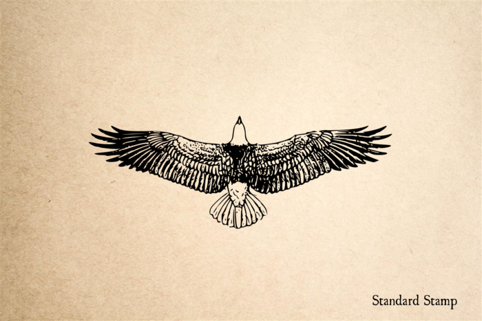Eagle Soaring Rubber Stamp