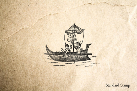 Early Sail Boat Rubber Stamp
