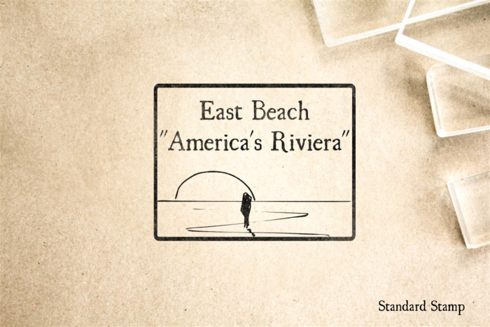 East Beach California Rubber Stamp