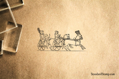 Egyptian Chariot Rubber Stamp