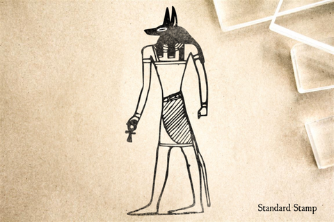 Egyptian God Anubis Rubber Stamp