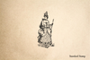 Eighteenth Century Witch Rubber Stamp