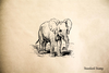 Elephant Baby Rubber Stamp