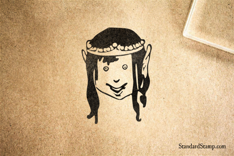 Elf King Rubber Stamp