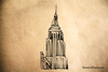 Empire State Building Rubber Stamp