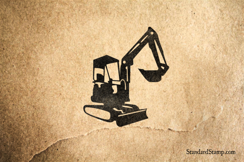 Excavator Rubber Stamp