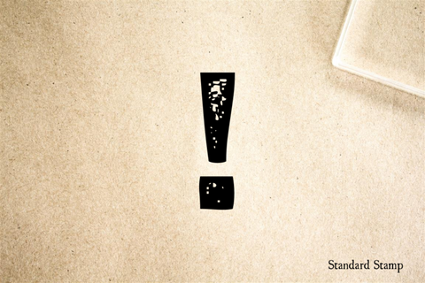Exclamation Point Rubber Stamp