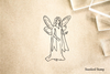 Fairy Angel Rubber Stamp