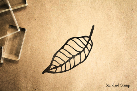 Falling Leaf Rubber Stamp