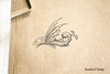 Fanciful Flying Fish Rubber Stamp